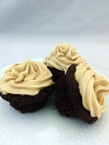 Keto Chococlate Cupcakes Peanut Butter Frosting